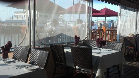 Beach Creek Oyster Bar & Grill : View from the covered patio/deck