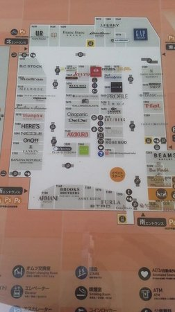 Mitsui Outlet Park Kurashiki: 案内図