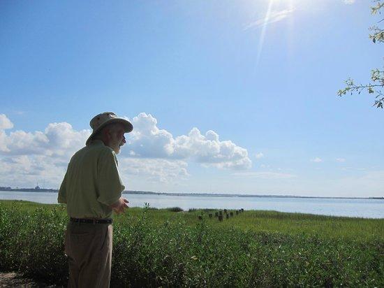 Ed Grimball's Walking Tour of Historic Charleston: Mr. Grimball overlooking Charleston Bay