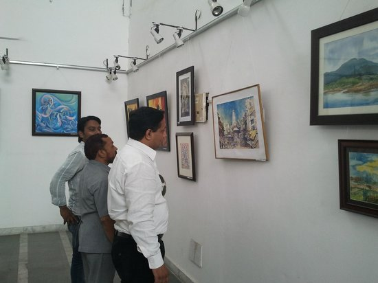 view of the art gallery in hotel drona