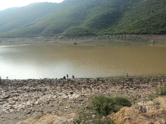 Rajgir, India: ghora katora visit by gungun