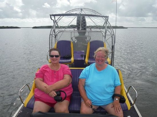 Captain Stu's Airboat Tours: having an AWESOME time
