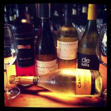 Croydon Lane Wine and Tapas Bar: 100 bottles of wine on the wall