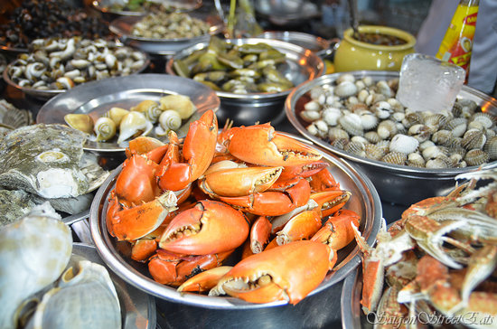 Ho Chi Minh City, Vietnam: A wide range of crustaceans and seafood