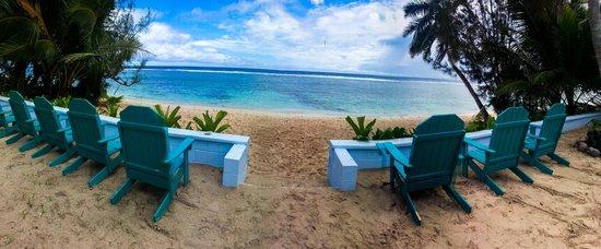 Kia Orana Beach Bungalows : View of Beach