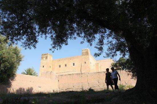 Riad Sougtani: la Casbah vue du jardin