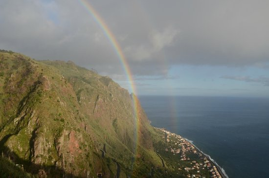 Vila Mia: Einmaliger Regenbogen vom Balkon