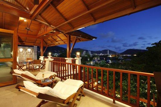 L'Orchidee Residences : Villa Cattleya C9, Terrace, Pool view