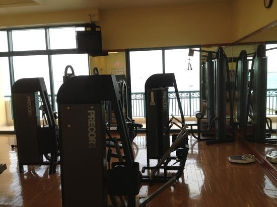 Hilton Barbados Resort: workout with a view