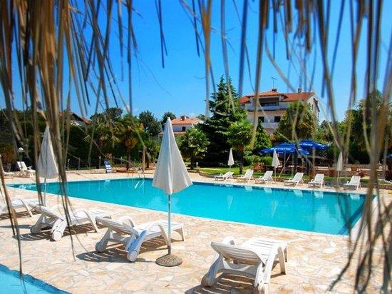 Hotel Pension Villa Gloria: Swimmingpool and haus