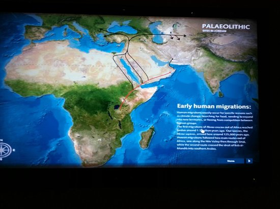 The Jordan Museum: map showing the significance of the region in early trade