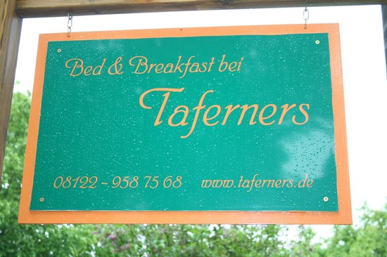 B&B bei Taferners: the sign
