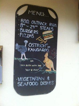 Kookaba Restaurant Saundersfoot Menu