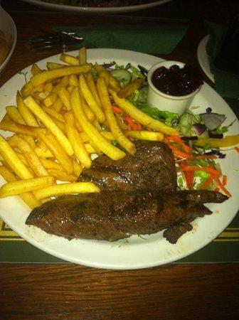 Kookaba Restaurant: Kangaroo Steak and Chips