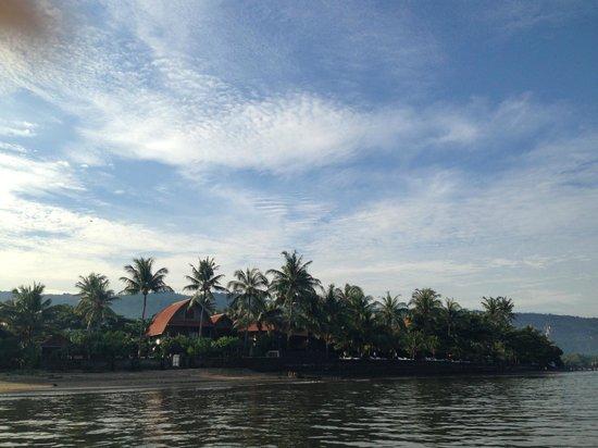 Cleopatra Beach Bungalows: view from the sea