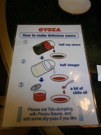 Senmonten: Como hacer la salsa para mojar los gyoza