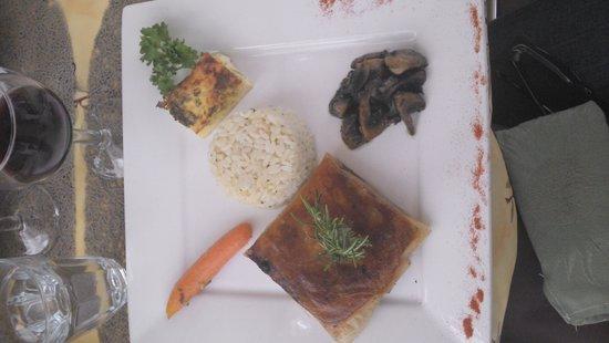 Restaurant Noe: croustillant au boeuf