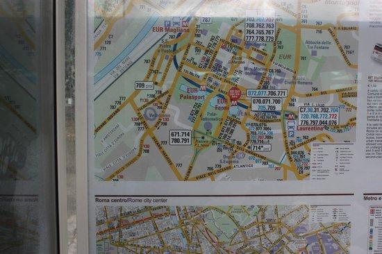 Residence Garden : plan des bus