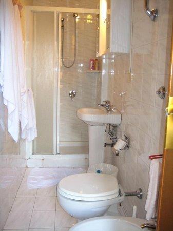 Hotel Azzurra: Compact bathroom