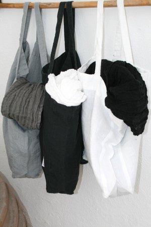 Oneira Paros : sacs et cheches en lin lavé