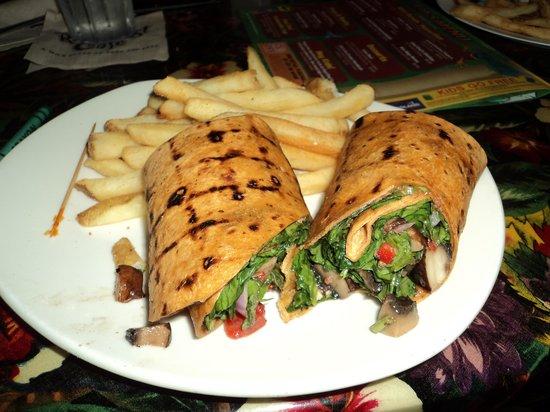 Rainforest Cafe: Veggie spinich wrap 11.99