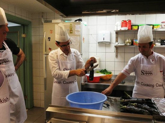 Sarnic Hotel Turkish Cooking Class: August 2012 - Those two made the cooking class sooo good & funny!