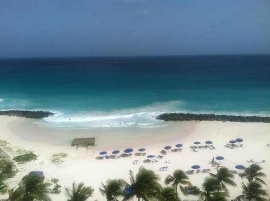 Hilton Barbados Resort: view from our balcony