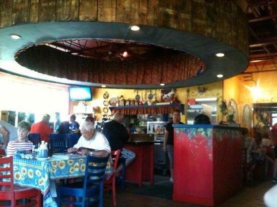 Over Easy Café: inside the over easy cafe