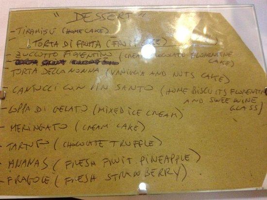 Trattoria Gigi Di Lippi Luciano : dessert menu