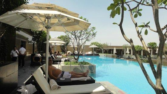 Crowne Plaza Hotel Gurgaon : pileta externa