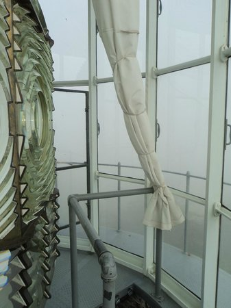 Cape Blanco Lighthouse : Looking out from the top on a foggy day