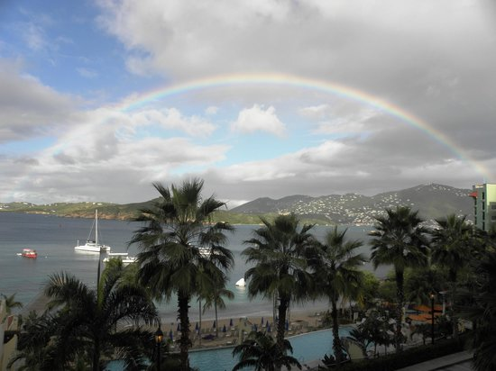 Marriott's Frenchman's Cove: Rainbow after short rainfall -- beauty unlimited