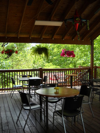 Tia B's : Covered deck on the river