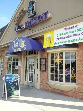 Joe's OK Bayou: front of Joe's