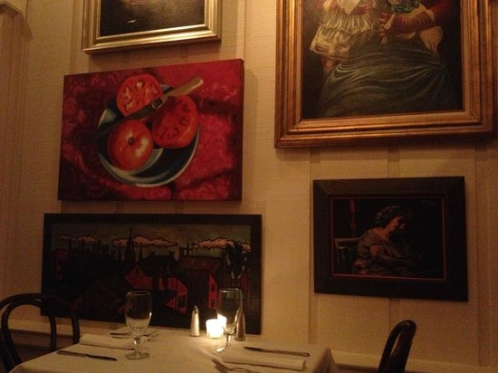 Upperline Restaurant: The local art is great and creates such a unique ambience.