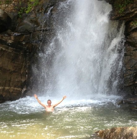Ashburnham Estate: cooling swim at the waterfall