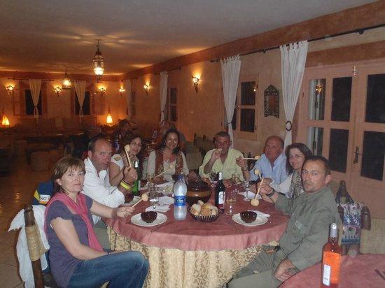 La Courbine d'Argent: cena en el comedor del hotel