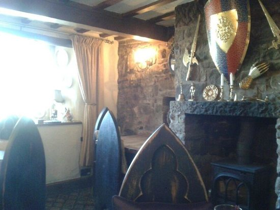 The Knights Table: One of the small inside eating areas