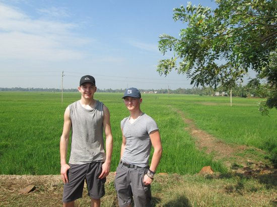 Palmy Residency: Me and Sam in the rice fields