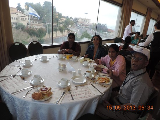 Nazareth Ilit Plaza Hotel: Dining with a view