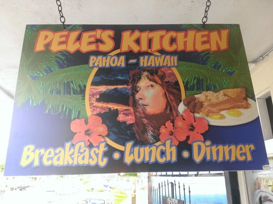 Sign for Pele's Kitchen