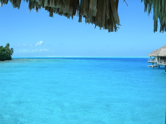 Conrad Bora Bora Nui: View from Bungalow #103's deck to the right