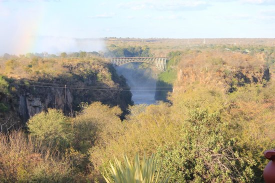 The Victoria Falls Hotel: View from hotel grounds