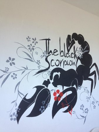 The Black Scorpion: il murales del logo