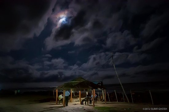 Eco Villa Resort: Full moon night