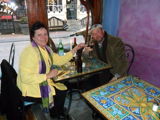 Saturnino: Enjoying some Wine before Dinner