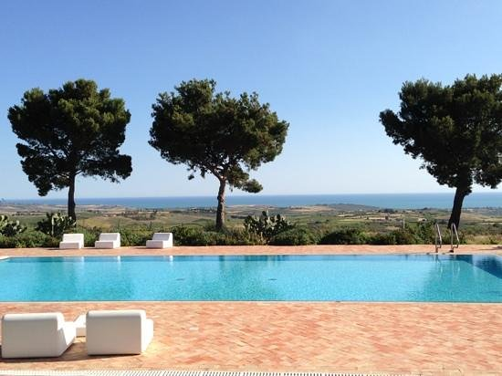 Hotel Baglio San Vincenzo : piscina con vista mare