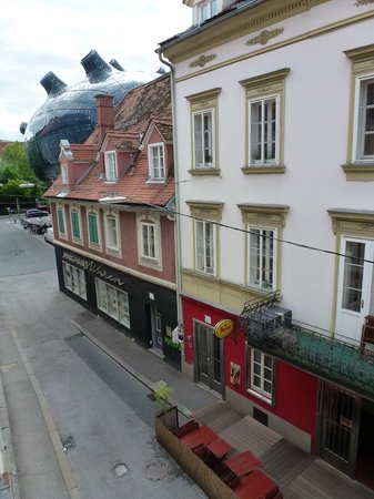 Hotel Mariahilf: View from room.