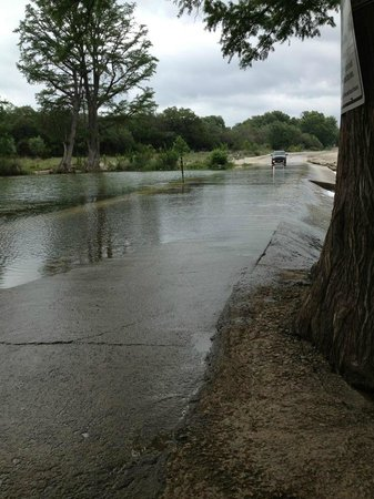 Seven Bluff Cabins on the Frio: Water crossing right at the property line