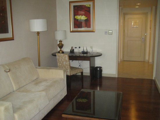 Green Court Serviced Apartment: Lounge area with sofa bed